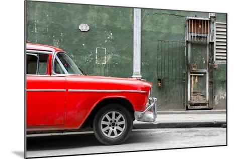 Cuba Fuerte Collection - 615 Street and Red Car-Philippe Hugonnard-Mounted Photographic Print