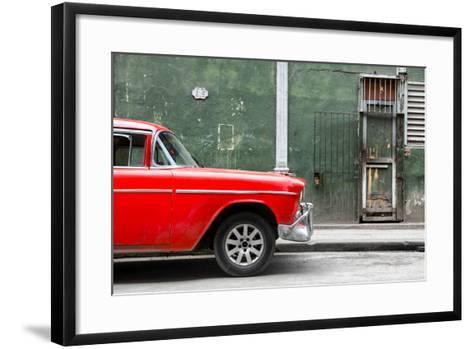 Cuba Fuerte Collection - 615 Street and Red Car-Philippe Hugonnard-Framed Art Print