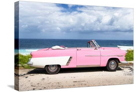 Cuba Fuerte Collection - Pink Car Cabriolet-Philippe Hugonnard-Stretched Canvas Print