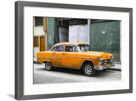 Cuba Fuerte Collection - Orange Chevy-Philippe Hugonnard-Framed Art Print
