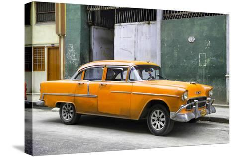 Cuba Fuerte Collection - Orange Chevy-Philippe Hugonnard-Stretched Canvas Print