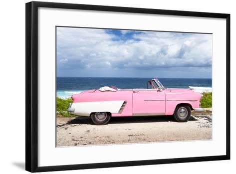 Cuba Fuerte Collection - Pink Car Cabriolet-Philippe Hugonnard-Framed Art Print