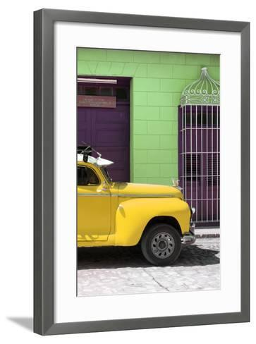 Cuba Fuerte Collection - Close-up of Yellow Vintage Car-Philippe Hugonnard-Framed Art Print
