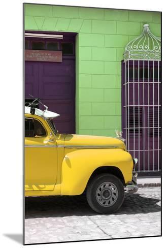 Cuba Fuerte Collection - Close-up of Yellow Vintage Car-Philippe Hugonnard-Mounted Photographic Print