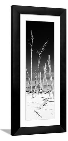 Cuba Fuerte Collection Panoramic BW - Wild White Sand Beach-Philippe Hugonnard-Framed Art Print
