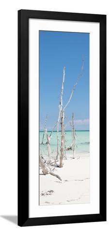 Cuba Fuerte Collection Panoramic - Wild White Sand Beach II-Philippe Hugonnard-Framed Art Print