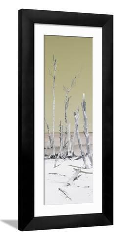 Cuba Fuerte Collection Panoramic - Wild White Sand Beach - Pastel Yellow-Philippe Hugonnard-Framed Art Print