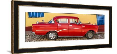 Cuba Fuerte Collection Panoramic - Red Classic Car in Trinidad-Philippe Hugonnard-Framed Art Print
