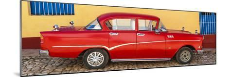 Cuba Fuerte Collection Panoramic - Red Classic Car in Trinidad-Philippe Hugonnard-Mounted Photographic Print