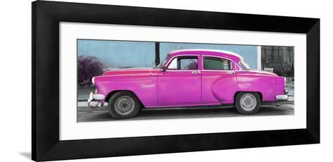 Cuba Fuerte Collection Panoramic - Beautiful Retro Pink Car-Philippe Hugonnard-Framed Art Print