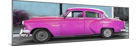 Cuba Fuerte Collection Panoramic - Beautiful Retro Pink Car-Philippe Hugonnard-Mounted Photographic Print