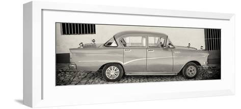 Cuba Fuerte Collection Panoramic BW - Classic Car in Trinidad-Philippe Hugonnard-Framed Art Print
