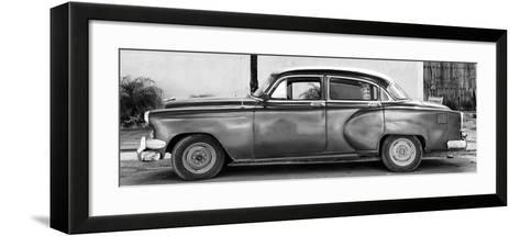 Cuba Fuerte Collection Panoramic BW - Beautiful Vintage Car-Philippe Hugonnard-Framed Art Print