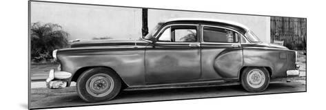 Cuba Fuerte Collection Panoramic BW - Beautiful Vintage Car-Philippe Hugonnard-Mounted Photographic Print