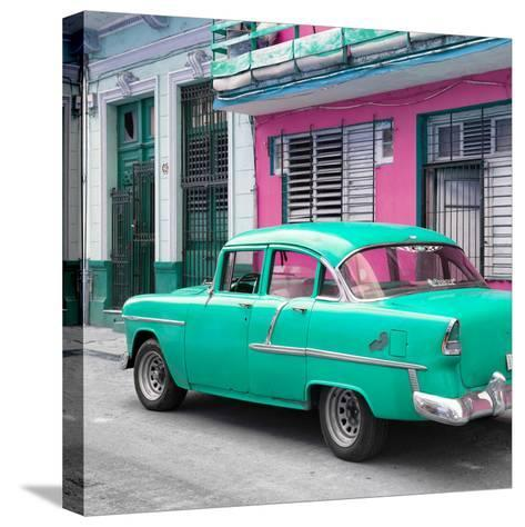 Cuba Fuerte Collection SQ - Old Cuban Coral Green Car-Philippe Hugonnard-Stretched Canvas Print