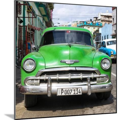 Cuba Fuerte Collection SQ - Green Chevy-Philippe Hugonnard-Mounted Photographic Print