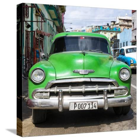 Cuba Fuerte Collection SQ - Green Chevy-Philippe Hugonnard-Stretched Canvas Print