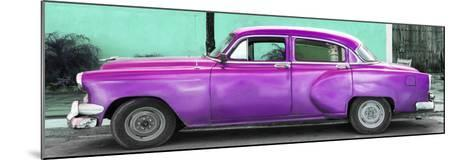 Cuba Fuerte Collection Panoramic - Beautiful Retro Purple Car-Philippe Hugonnard-Mounted Photographic Print
