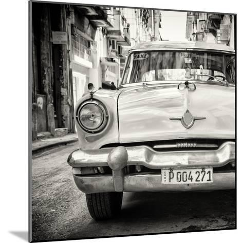 Cuba Fuerte Collection SQ BW - Taxi of Havana-Philippe Hugonnard-Mounted Photographic Print