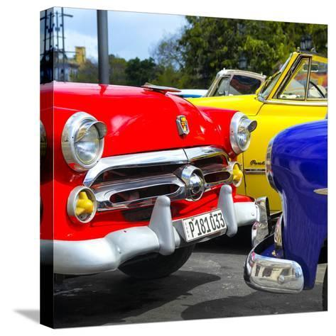 Cuba Fuerte Collection SQ - Havana Vintage Classic Cars-Philippe Hugonnard-Stretched Canvas Print