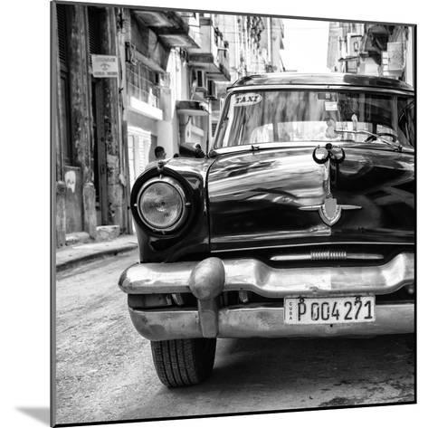Cuba Fuerte Collection SQ BW - Taxi of Havana II-Philippe Hugonnard-Mounted Photographic Print