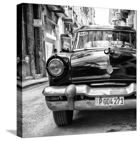 Cuba Fuerte Collection SQ BW - Taxi of Havana II-Philippe Hugonnard-Stretched Canvas Print