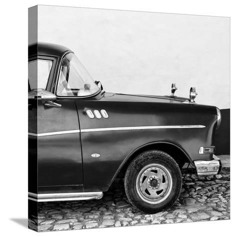 Cuba Fuerte Collection SQ BW - Close-up of Retro Car II-Philippe Hugonnard-Stretched Canvas Print