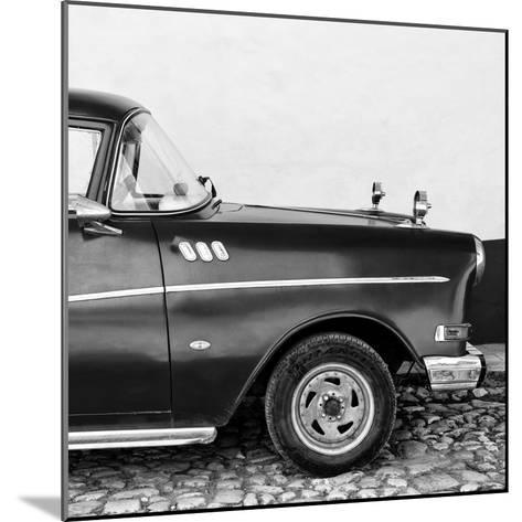 Cuba Fuerte Collection SQ BW - Close-up of Retro Car II-Philippe Hugonnard-Mounted Photographic Print