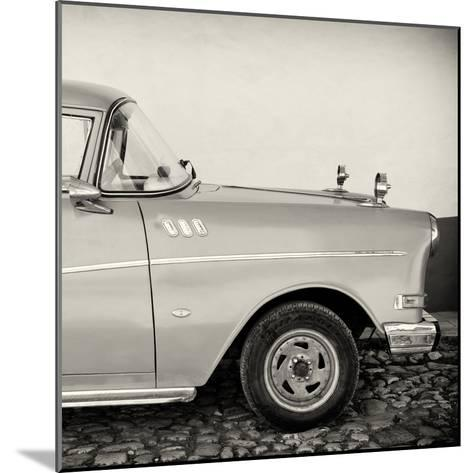 Cuba Fuerte Collection SQ BW - Close-up of Retro Car-Philippe Hugonnard-Mounted Photographic Print