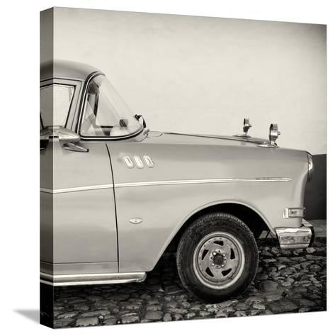 Cuba Fuerte Collection SQ BW - Close-up of Retro Car-Philippe Hugonnard-Stretched Canvas Print