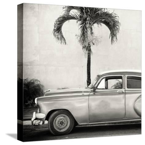 Cuba Fuerte Collection SQ BW - Beautiful Retro Car-Philippe Hugonnard-Stretched Canvas Print