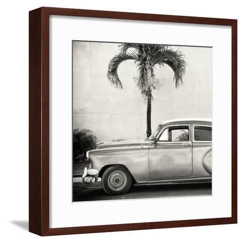 Cuba Fuerte Collection SQ BW - Beautiful Retro Car-Philippe Hugonnard-Framed Art Print