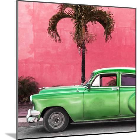 Cuba Fuerte Collection SQ - Beautiful Retro Green Car-Philippe Hugonnard-Mounted Photographic Print