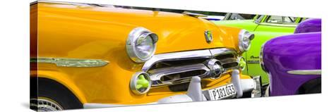 Cuba Fuerte Collection Panoramic - Havana Vintage Classic Cars III-Philippe Hugonnard-Stretched Canvas Print