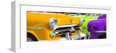 Cuba Fuerte Collection Panoramic - Havana Vintage Classic Cars III-Philippe Hugonnard-Framed Art Print