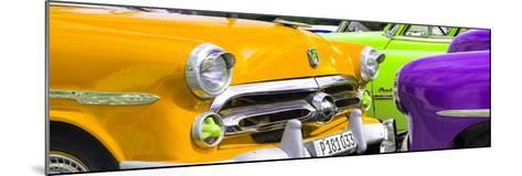 Cuba Fuerte Collection Panoramic - Havana Vintage Classic Cars III-Philippe Hugonnard-Mounted Photographic Print
