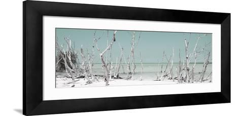 Cuba Fuerte Collection Panoramic - Wild Beach - Pastel Turquoise-Philippe Hugonnard-Framed Art Print