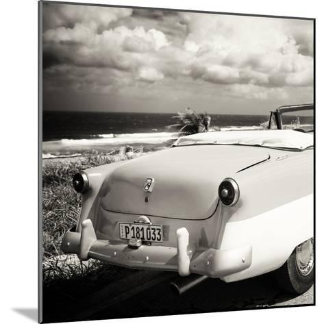 Cuba Fuerte Collection SQ BW - Old Classic Car Cabriolet-Philippe Hugonnard-Mounted Photographic Print
