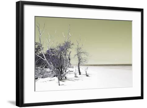 Cuba Fuerte Collection - Sandy Beach Pastel Olive-Philippe Hugonnard-Framed Art Print