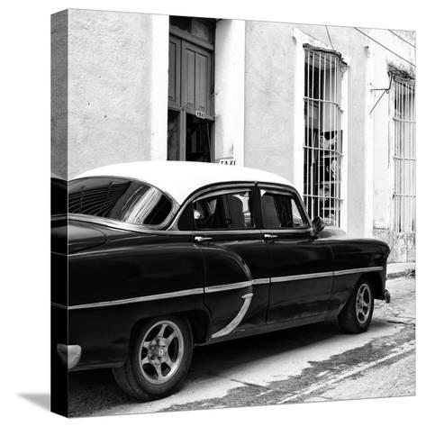 Cuba Fuerte Collection SQ BW - Cuban Taxi II-Philippe Hugonnard-Stretched Canvas Print