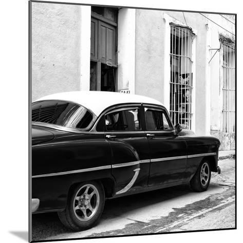 Cuba Fuerte Collection SQ BW - Cuban Taxi II-Philippe Hugonnard-Mounted Photographic Print
