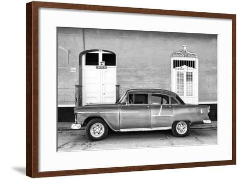Cuba Fuerte Collection B&W - 266 Street Trinidad II-Philippe Hugonnard-Framed Art Print