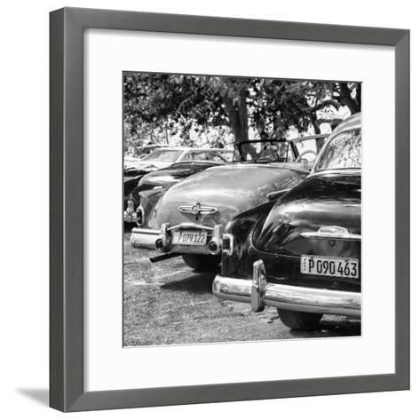 Cuba Fuerte Collection SQ BW - Havana Vintage Classic Cars II-Philippe Hugonnard-Framed Art Print