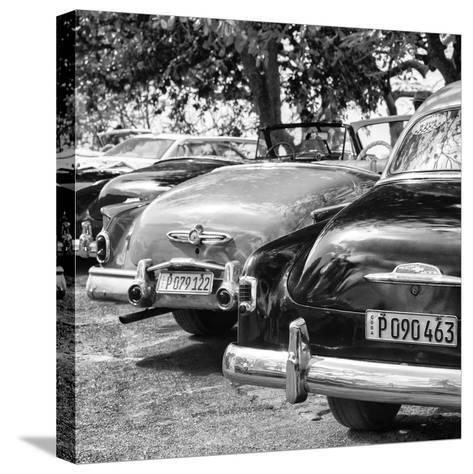 Cuba Fuerte Collection SQ BW - Havana Vintage Classic Cars II-Philippe Hugonnard-Stretched Canvas Print