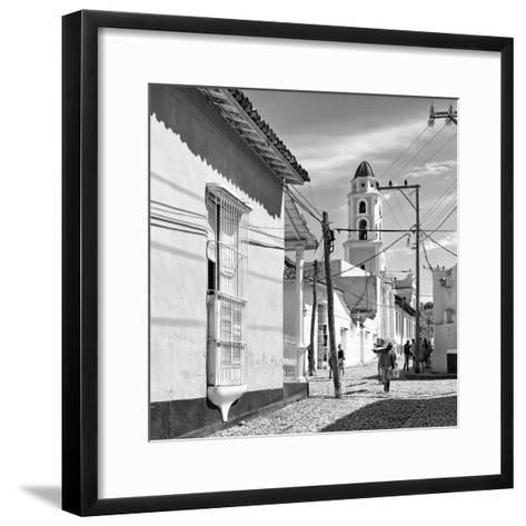 Cuba Fuerte Collection SQ BW - Architecture Trinidad-Philippe Hugonnard-Framed Art Print