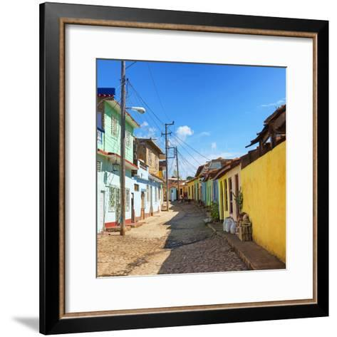 Cuba Fuerte Collection SQ - Colorful Architecture Trinidad-Philippe Hugonnard-Framed Art Print
