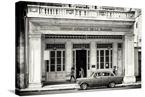 Cuba Fuerte Collection B&W - Centro Andaluz de la Habana-Philippe Hugonnard-Stretched Canvas Print