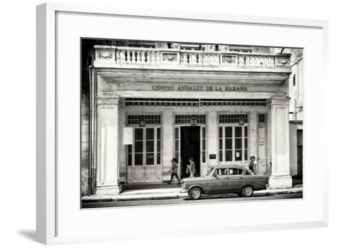 Cuba Fuerte Collection B&W - Centro Andaluz de la Habana-Philippe Hugonnard-Framed Art Print