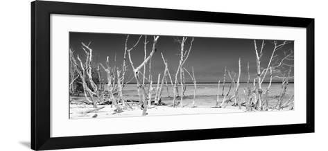 Cuba Fuerte Collection Panoramic BW - Wild Beach-Philippe Hugonnard-Framed Art Print
