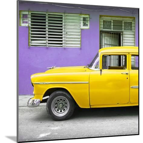 Cuba Fuerte Collection SQ - Vintage Cuban Yellow Car-Philippe Hugonnard-Mounted Photographic Print
